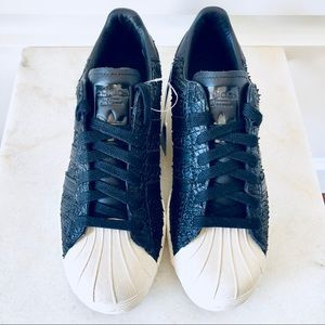 New! Adidas Superstar 80s Shell Toe Snake Leather